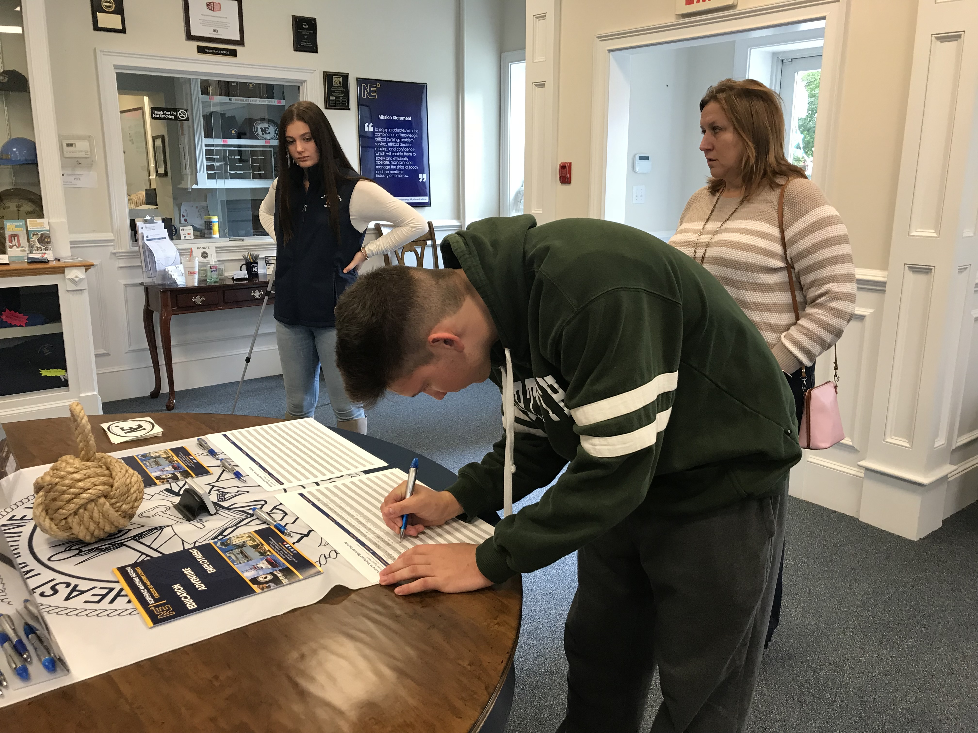 Future Mariner Signing up! Northeast Maritime Institute | Open House