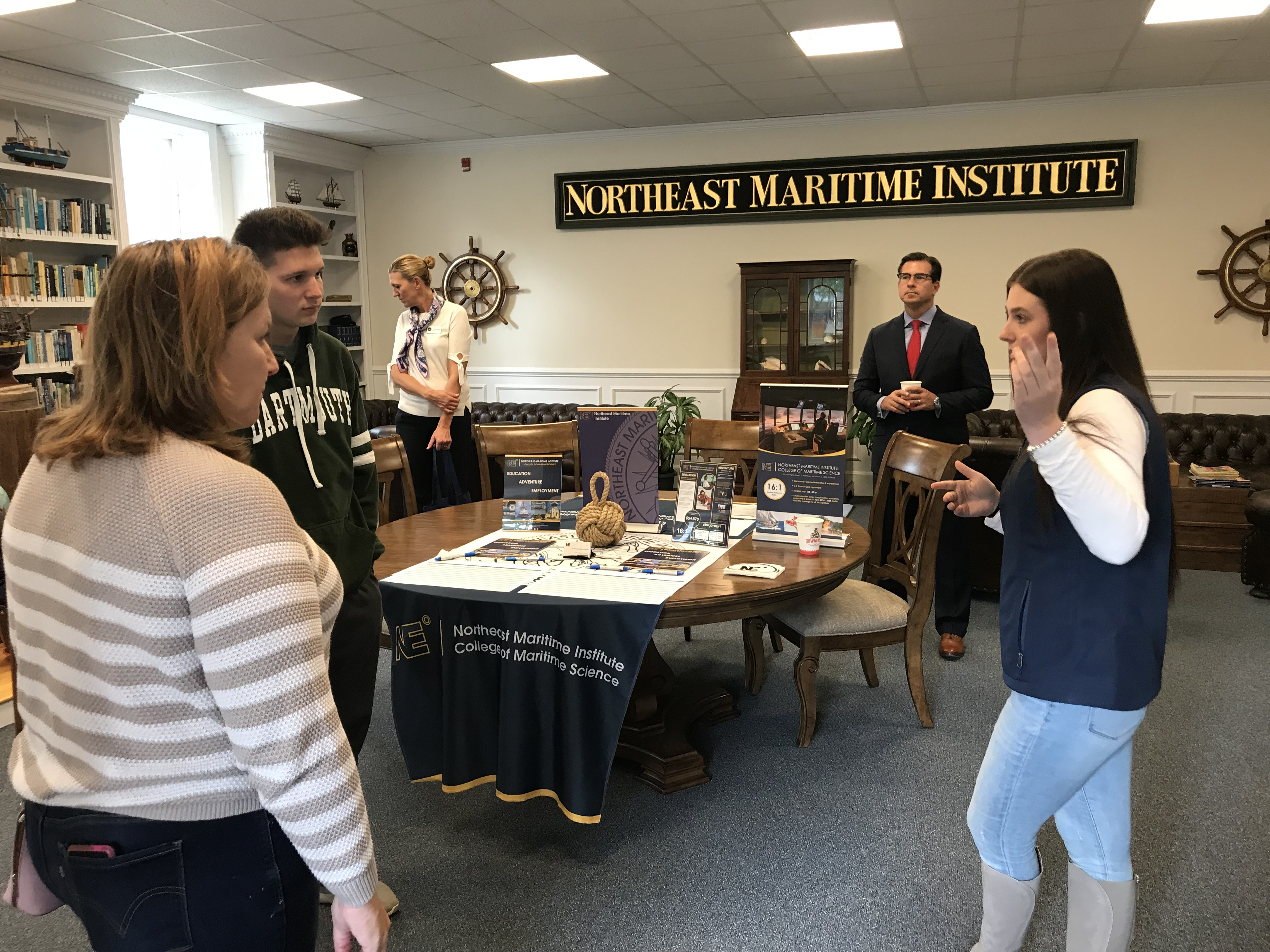 Molly talking to future students! Northeast Maritime Institute | Open House