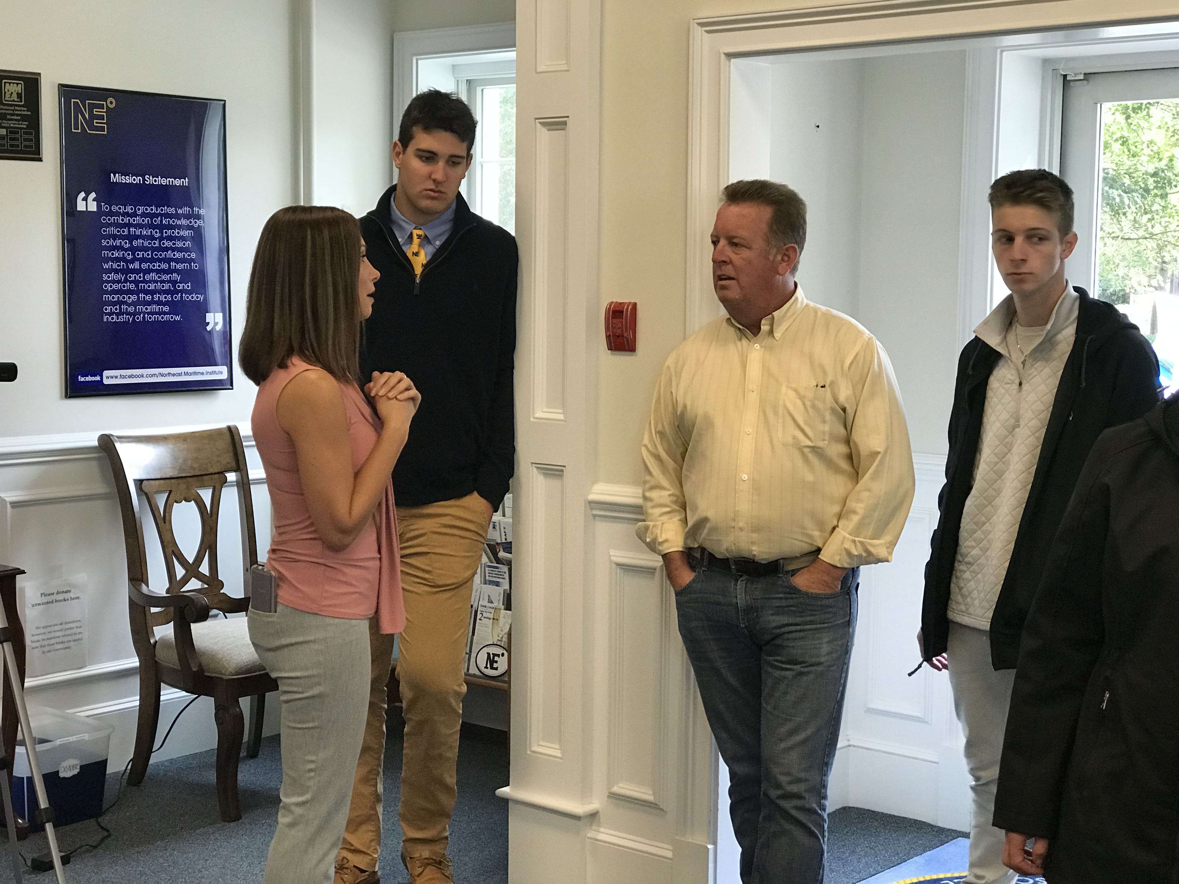 New students touring Northeast Maritime Students