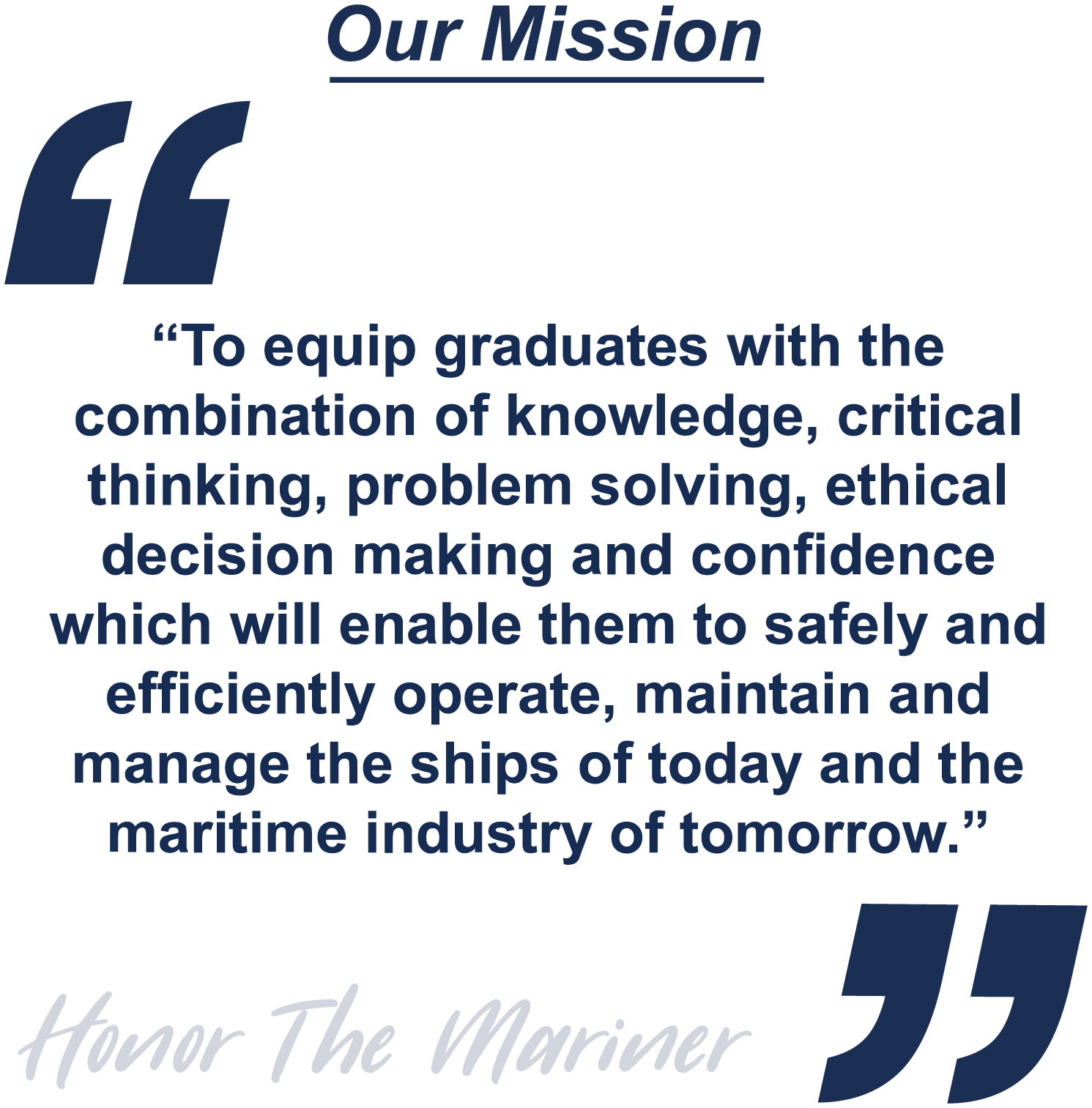 Northeast Maritime Institute's Mission Statement