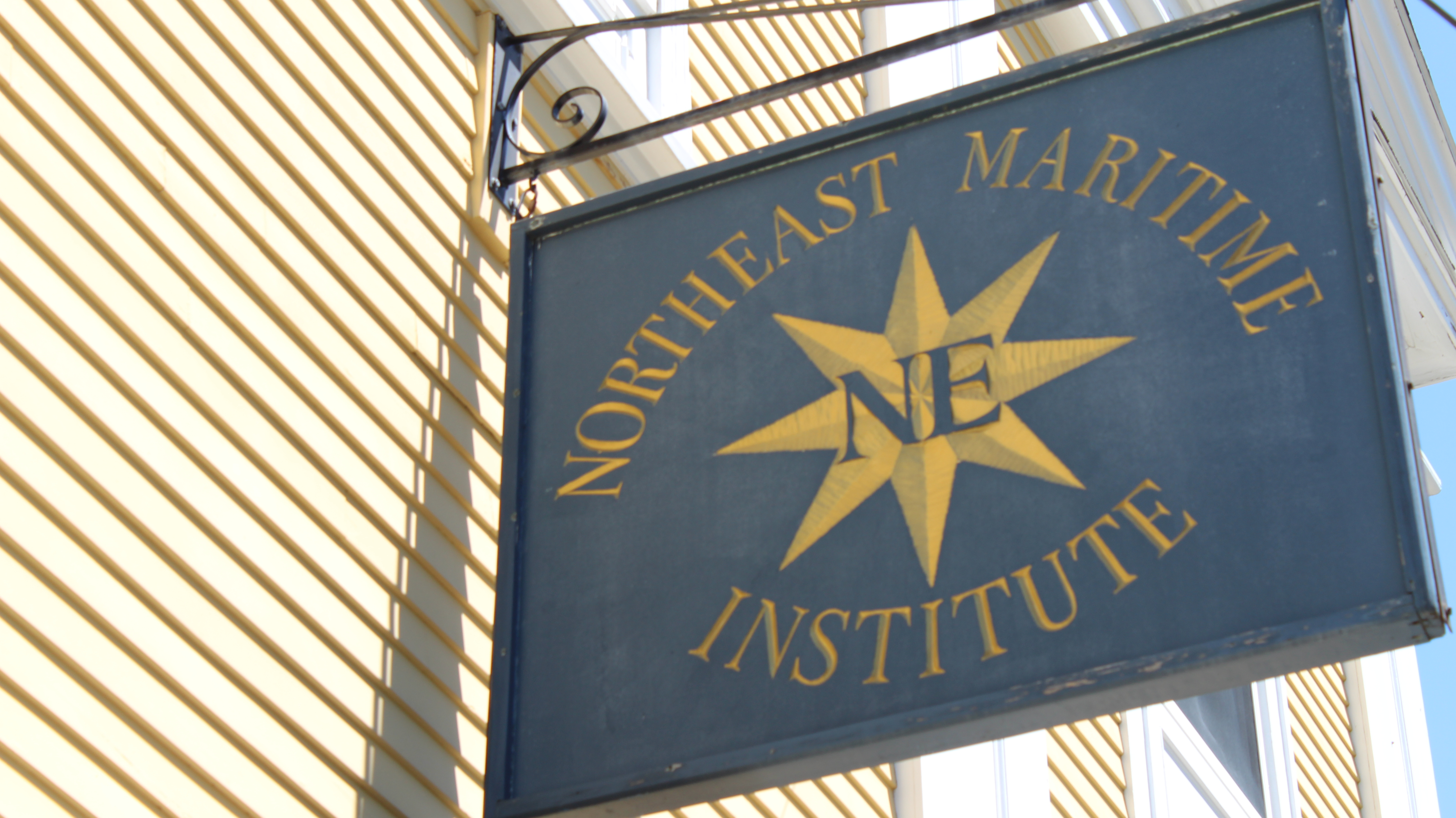 Northeast Maritime Institute Sign Out Front