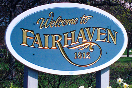 Welcome to fairhaven sign