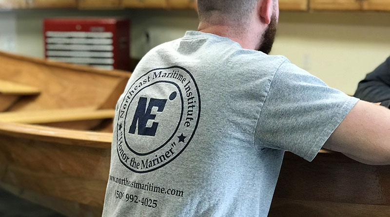 Northeast Maritime Institute, t-shirt, Honor the Mariner, woodshop, boat building, hands-on learning
